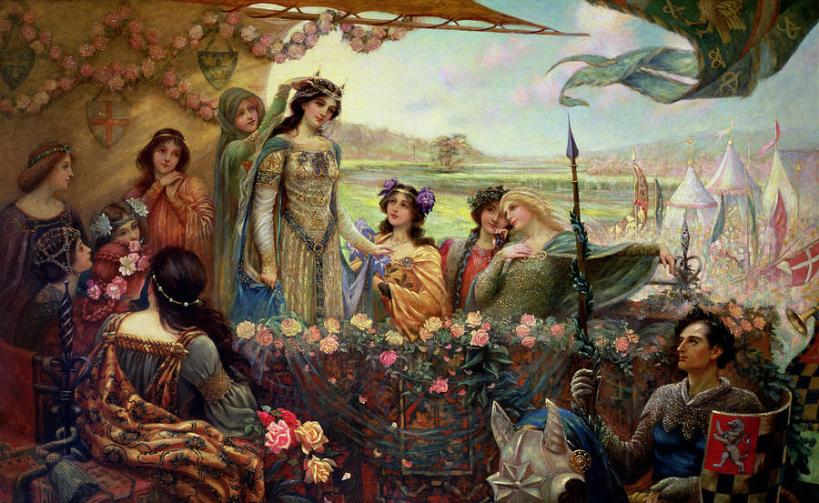 Lancelot_and_Guinevere_-_Herbert_James_Draper