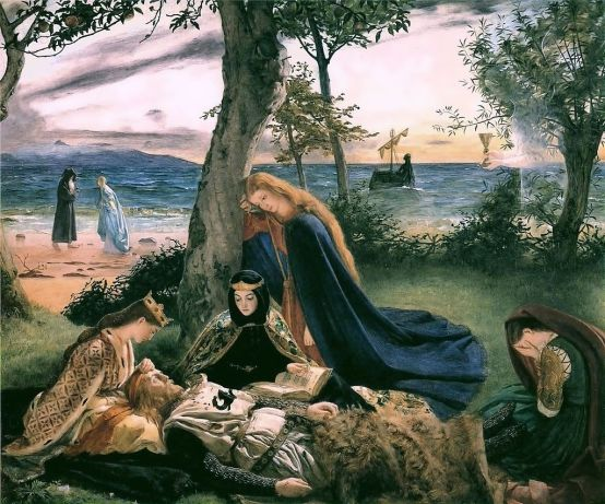 The_Death_of_King_Arthur_by_James_Archer_(1860)